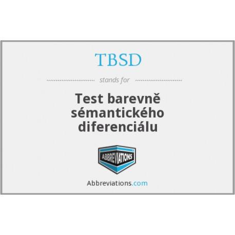 TBSD: Test farebne sémantického diferenciálu